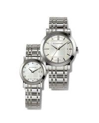 Burberry   Metallic Ladies Diamond Bracelet Watch   Lyst