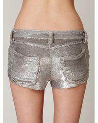 Free People - Metallic Iro Sequin Shorts - Lyst