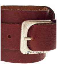 G-Star RAW | Brown G Star Bailey Leather Cuff for Men | Lyst