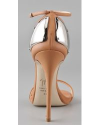 Giuseppe Zanotti - Natural Metal Counter Sandals - Lyst