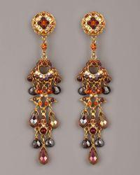 Jose & Maria Barrera - Multicolor Crystal & Bead Drop Earrings, Topaz - Lyst