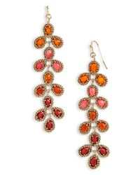 Kendra Scott | Red Nelsie Linear Statement Earrings | Lyst