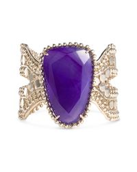 Kendra Scott | Purple Abena Large Stone Cuff | Lyst