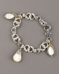 Konstantino - Metallic Mother-of-pearl Charm Bracelet - Lyst