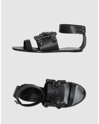 Lanvin | Black Studded Sandal | Lyst