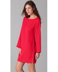 Marc By Marc Jacobs - Red Clark Twill Dress - Lyst