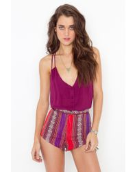 Nasty Gal - Red Tijuana Hot Shorts - Lyst