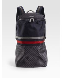 Gucci | Blue Nylon Diamante Backpack for Men | Lyst