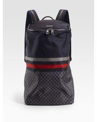 Gucci - Blue Nylon Diamante Backpack for Men - Lyst