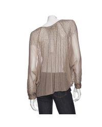 Parker - Brown Sheer Long Sleeve Sequin Top - Lyst