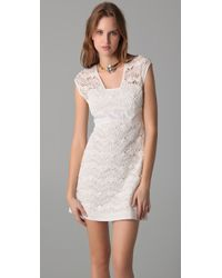 Philosophy di Alberta Ferretti | White Lace Detail Dress | Lyst