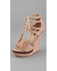 Rachel Zoe | Pink Kayne Wedge Sandals | Lyst