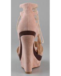 Rachel Zoe - Pink Kayne Wedge Sandals - Lyst