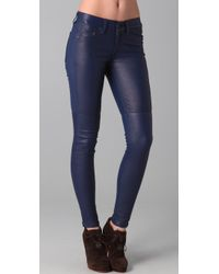 Rag & Bone | Blue The Skinny Leather Pants | Lyst