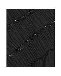 Tadashi Shoji | Black Beaded Tulle One Shoulder Long Dress | Lyst