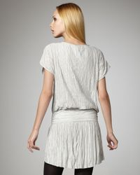 Theory | White Crinkled Chiffon Party Dress | Lyst