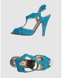 Valentino | Blue Highheeled Sandals | Lyst