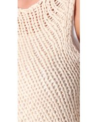 Vince - Natural Knit Bias Tank - Lyst