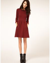 Whistles | Red Mila Jersey Dress | Lyst