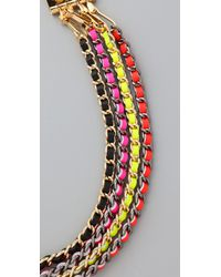 CC SKYE | Multicolor Neon Multi Chain Necklace | Lyst