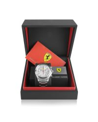 Ferrari - Metallic Scuderia Ferrari Stainless Steel Chrono Watch for Men - Lyst