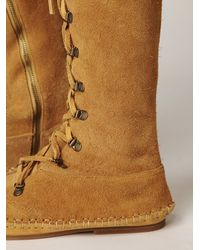 Free People - Natural Rambler Hi Moccasin - Lyst