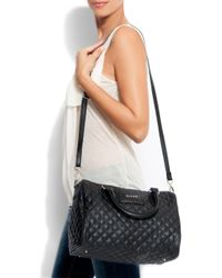 Mango - Black Quilted Bowling Handbag - Lyst