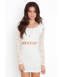 Nasty Gal - White All Or Next To Nothing Lace Dress - Lyst