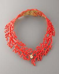 Aurelie Bidermann | Red Enamel Coral Choker Necklace | Lyst