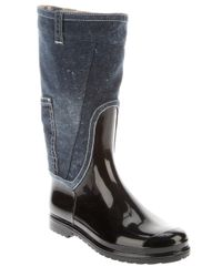Dolce & Gabbana | Blue Rubber and Denim Boot | Lyst