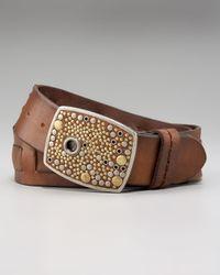 Robert Graham | Brown Dunmore Studded Buckle Belt | Lyst
