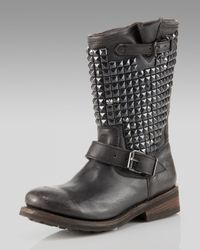 Ash - Black Trash Bis Studded Boot - Lyst