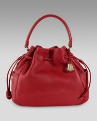 Cole Haan | Red Denney Drawstring Bag | Lyst