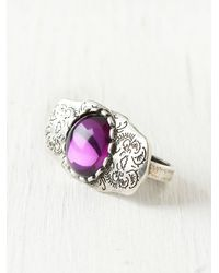 Free People - Purple Western Moonstone Ring - Lyst