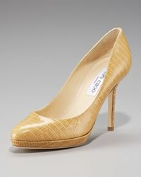 Jimmy Choo | Natural Lizard-print Platform Pump | Lyst