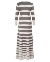 Madeleine Thompson | Gray Timeless Grey Stripe Dress | Lyst