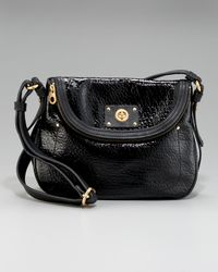 Marc By Marc Jacobs | Black Turnlock Shine Natasha Crossbody Bag | Lyst