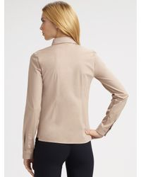 Jil Sander Navy   Natural Cotton Shirt   Lyst