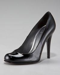 Stuart Weitzman | Black Patent Round-toe Pump | Lyst