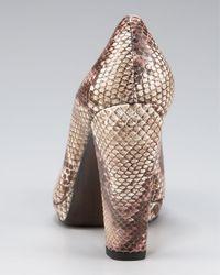 Stuart Weitzman | Multicolor Painted Snake Leather Pump | Lyst