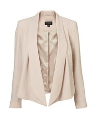 TOPSHOP | Natural Seam Front Waterfall Jacket | Lyst