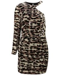 TOPSHOP - Multicolor Animal Devore Asymmetric Dress - Lyst