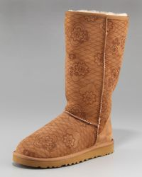 UGG | Brown Classic Tall Kimono Shearling Boot | Lyst
