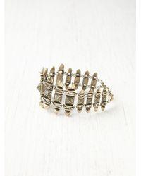 Free People - Metallic Textured Turret Bracelet - Lyst