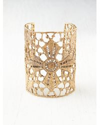 Free People - Metallic Maltese Cross Lace Cuff - Lyst