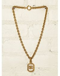 Free People | Metallic Vintage Chanel Necklace | Lyst