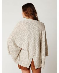 Free People | Natural Kimono Solid Sweater | Lyst