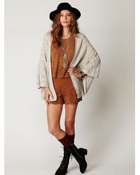 Free People - Natural Kimono Solid Sweater - Lyst