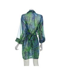 Gottex | Green Tropical Forest Silk Jungle Fever Blouse Cover Up | Lyst