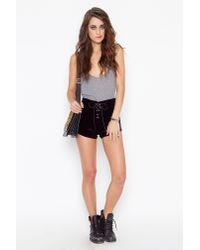 Nasty Gal | Black Velvet Corset Shorts | Lyst